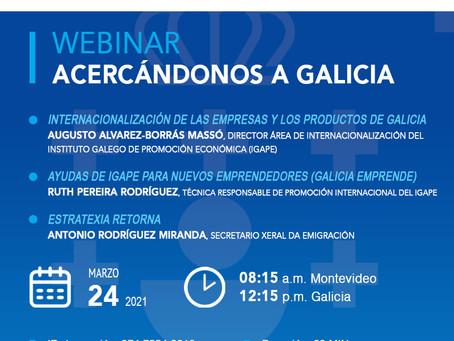 WEBINAR: Acercándonos a Galicia