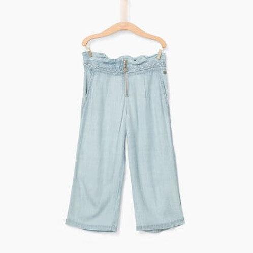 Pantalon fluide blue beach en tencel IKKS