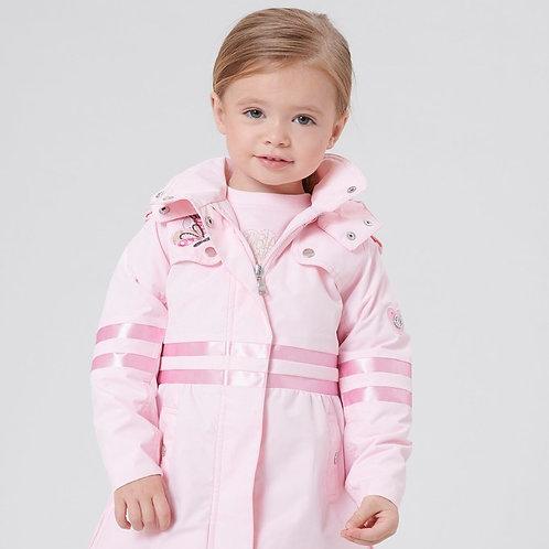 Manteau de pluie petite fille POIVRE BLANC