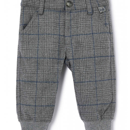 Pantalon gris carreaux IL GUFO