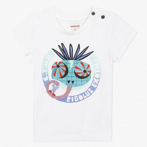 T-shirt bébé à motif imprimé cameleon