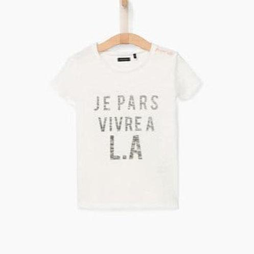 T-shirt blanc cassé IKKS