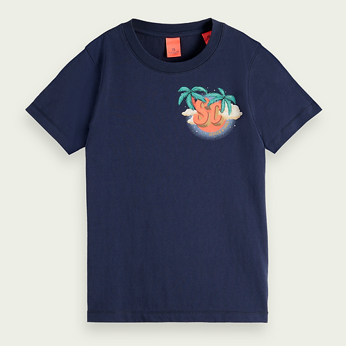 T-shirt with artwork SCOTCH AND SODA