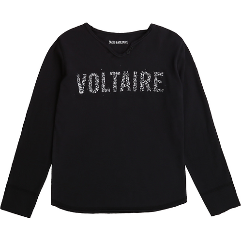 T-shirt manches longues strass ZADIG ET VOLTAIRE