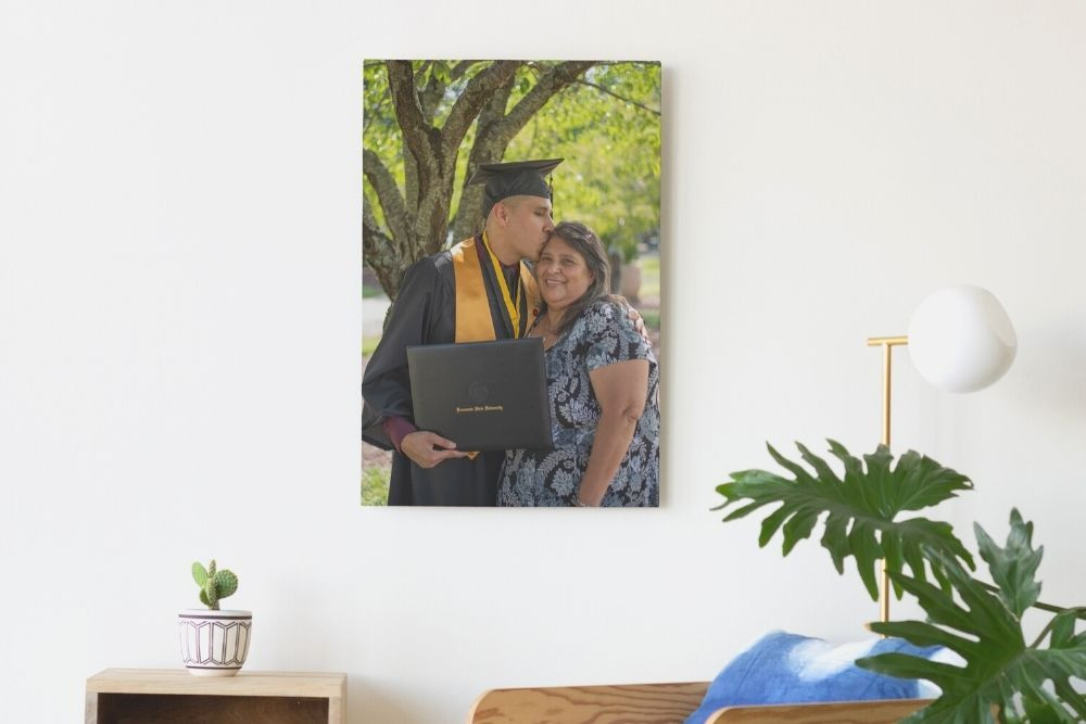 Son and Mother in graduation