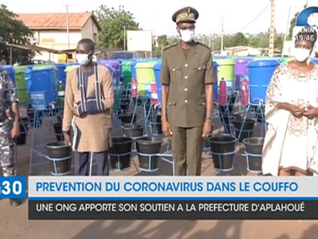 News Coverage of the Distributed Hand Washing Stations in the Couffo.