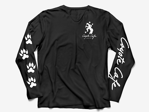 Coyote Cafe Black V-Neck Long Sleeved T-Shirt