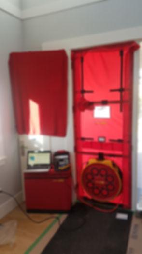 20180928_165936 blower door equipment in