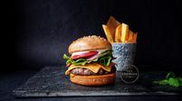 Illusion Cake - Burger & Chips
