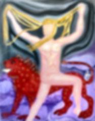 Jazmin Donaldson paintings, Lady Purple Rain