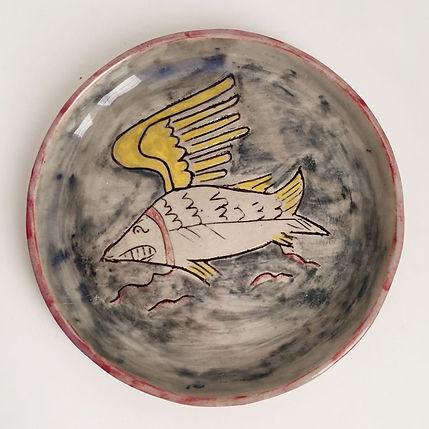 Jazmin Donalson paintings, ceramic, sawfish