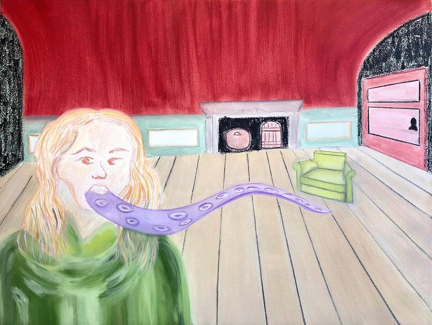 Jazmin Donaldson, paintings, mythology, myths, fairy fales, Down The Rabbit Hole