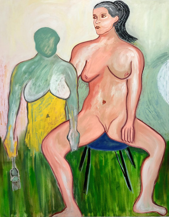 Jazmin Donaldson, painting, colours, colors, paintings, mythology, myths, fairy tales, folklore, oil, oil paint, oil painting, Vagina, Sex, Woman, Women, Body, Naked, Painter, Women painters, Latin America, Madrid, London