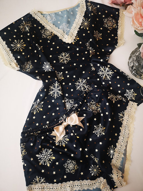 Joy Christmas kimono 2