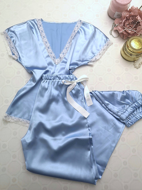 Blue kimono set