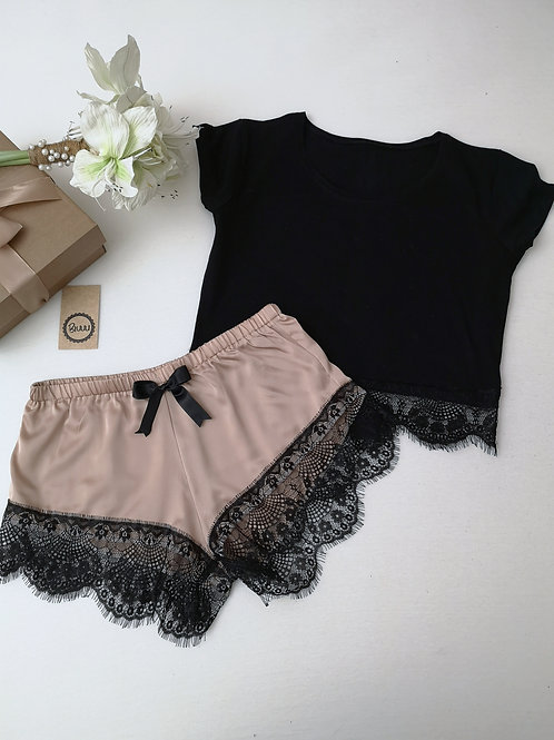 Nude Crop Top Set