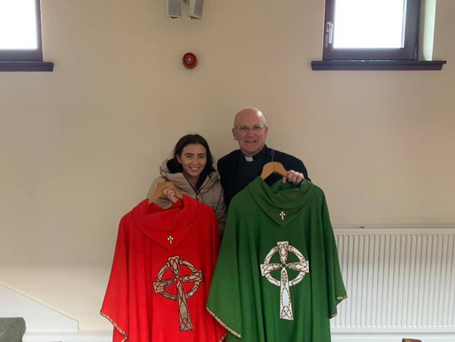 Scottish Parishes donate Vestments for The Gambia