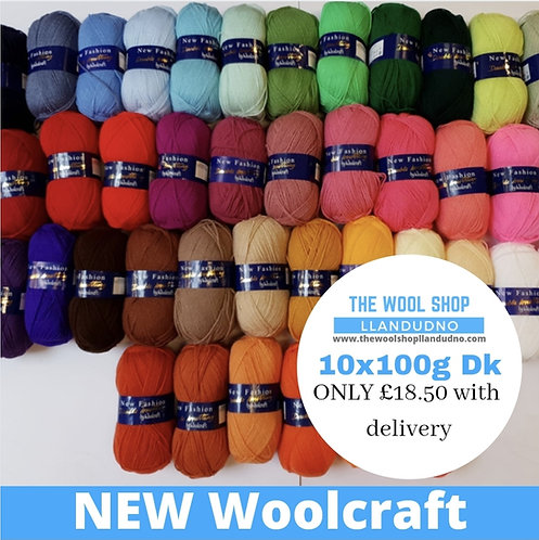 Woolcraft 10 x 100g DK Bulk Buy