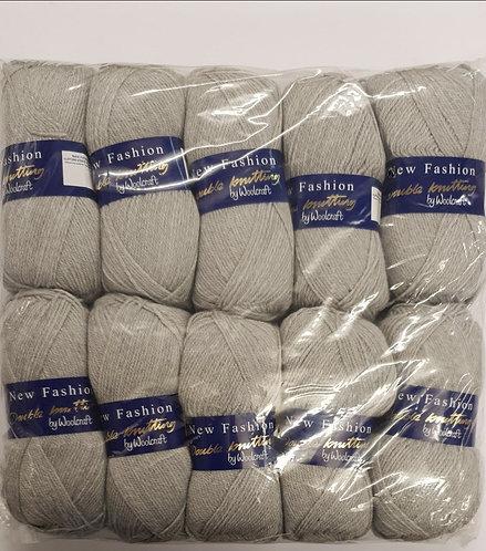 10 x 100g Woolcraft grey double knit