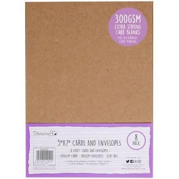5x7 kraft cards & envelopes