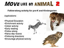 Move Like An Animal: fun, engaging rainy-day activity