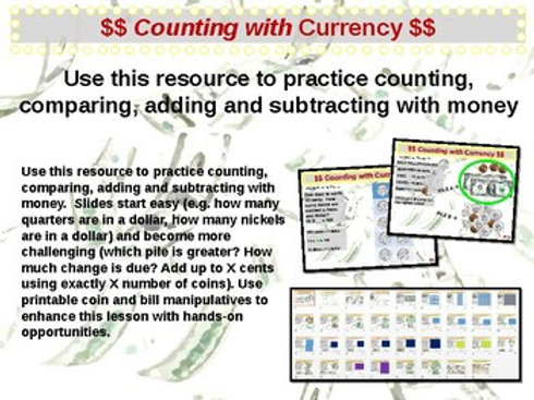 U.S. Currency - Counting with Money (U.S. Currency)