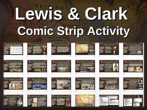 Lewis and Clark Comic Strip Activity