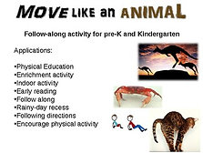 Move Like An Animal - fun, engaging rainy-day activity