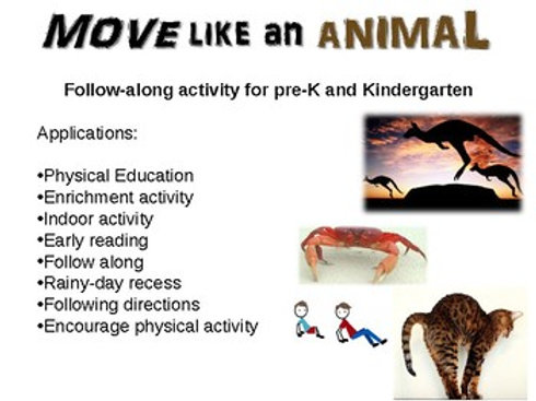 Move Like An Animal - fun, engaging rainy-day activity