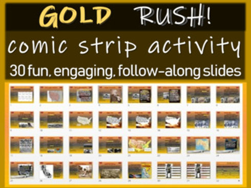 Gold Rush Comic Strip Activity