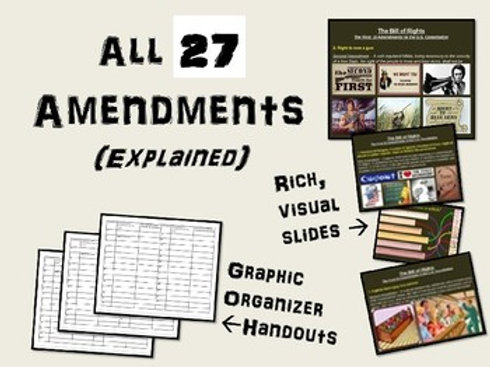 All 27 Amendments - Engaging Informational PowerPoint
