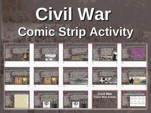 Civil War Comic Strip Activity