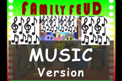 Music-Themed Interactive Family Feud Game