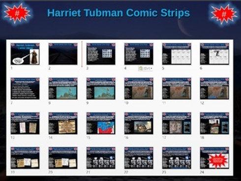 Harriet Tubman and the Underground Railroad Comic Strip Activity