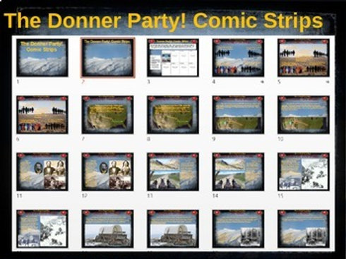 Donner Party Comic Strip Activity