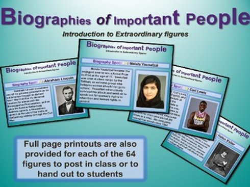 Biographies of Important People