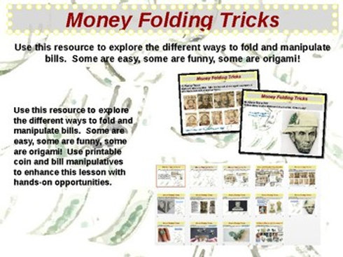 U.S. Currency - Folding and Tricks with Bills