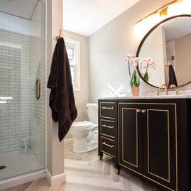 Modern Gold Bathroom