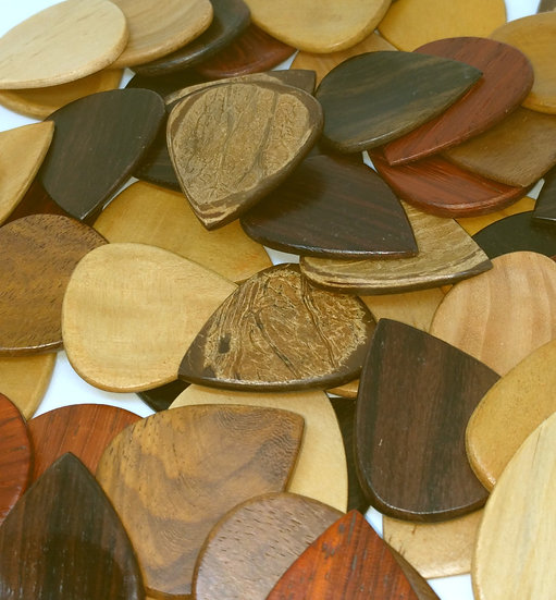 Handmade Wooden Plectrums