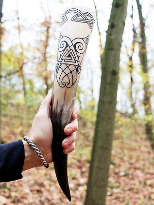 Odin's Blessing Engraved Horn