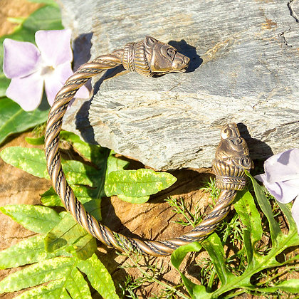 Bear Torques Bracelet [Bronze]