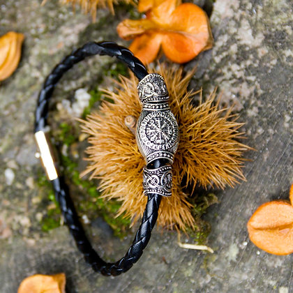 Vegvisir Leather Bracelet