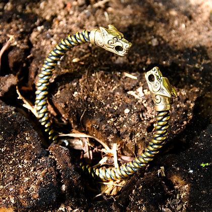Fenrir Macramé Torques Bracelet [Bronze]