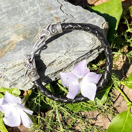 Fenrir Leather Torques Bracelet