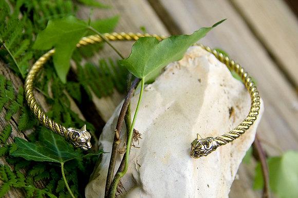Cat Torques Necklace [Bronze]