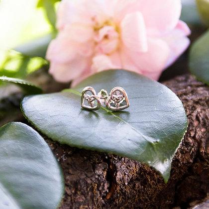 Triqueta Heart Earrings [Silver]