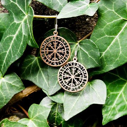 Vegvisir Earrings [Bronze]