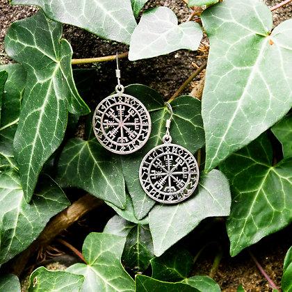 Vegvisir Earrings [Silver]