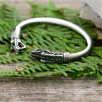 Dragon Torques Bracelet [Steel]