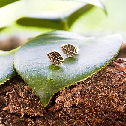 Leaves Stud Earrings [Silver]